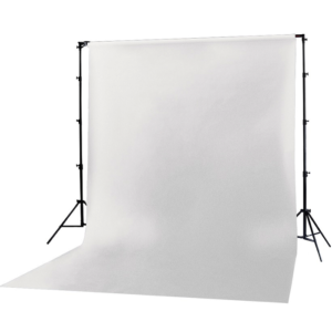 Backdrop Vinyl White Screen 2m x 3m With Goal Posts
