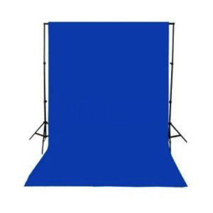 Backdrop Chroma Key Blue Cloth Screen 3m x 6m With Goal Posts