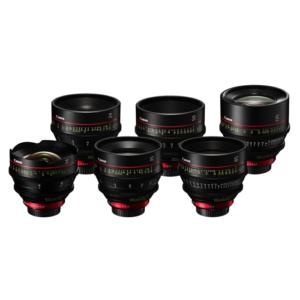 Canon CN-E EF 6x Cine 4K Prime Lens Set 14mm, 24mm, 35mm, 50mm, 85mm & 135mm