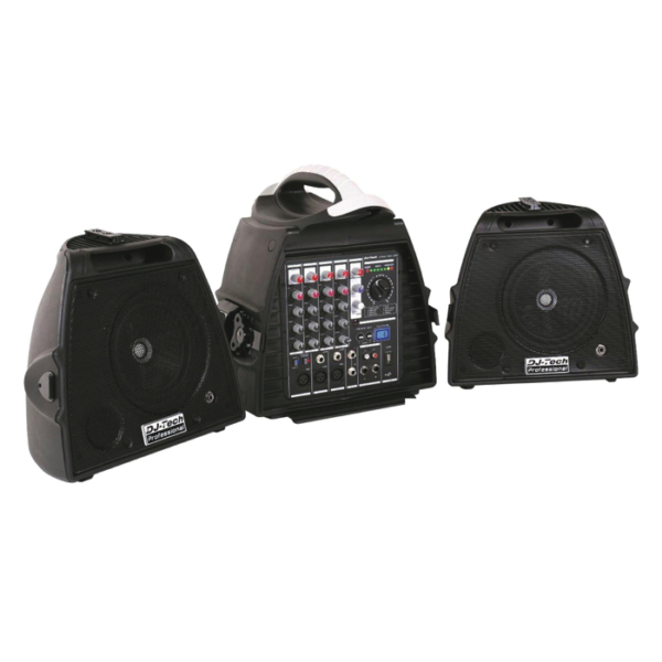 PA Portable 140W Speakers & Mixer System