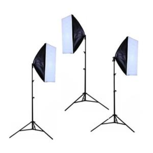 Softbox 150W 3x Head Basic Studio Lighting Kit