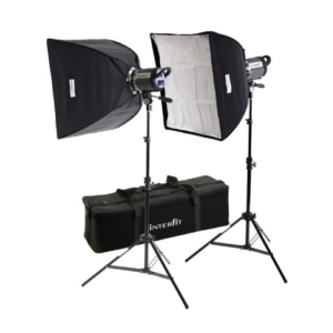 Softbox Interfit 500W 2x Head Lighting Kit